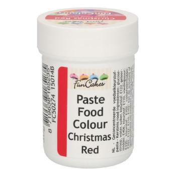 FunCakes FunColours Pastenfarbe - Christmas Red - Weihnachtsrot 30g